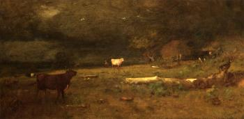 George Inness : The Coming Storm aka Approaching Storm